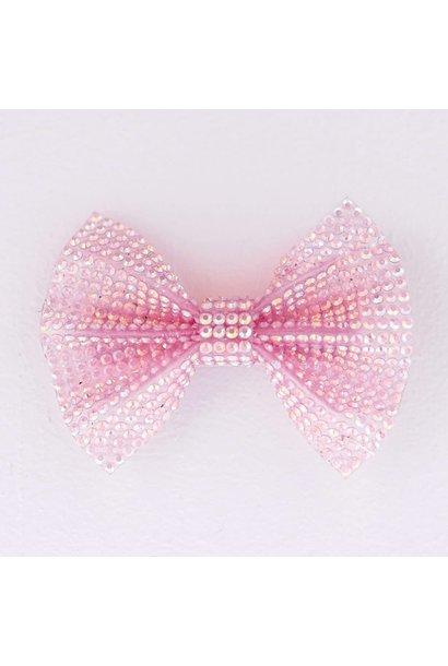 Pink Gem Bow Hair Clip