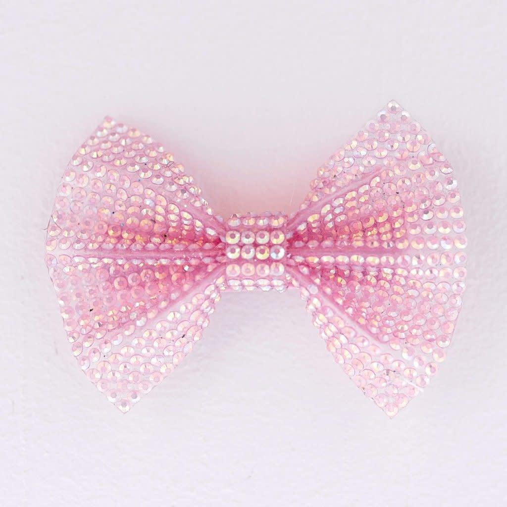 Pink Gem Bow Hair Clip-1