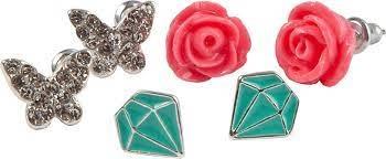 Rose Studded Earrings (3pcs)-2