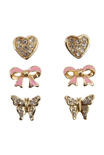 Dazzle Studded Earrings (3pcs)