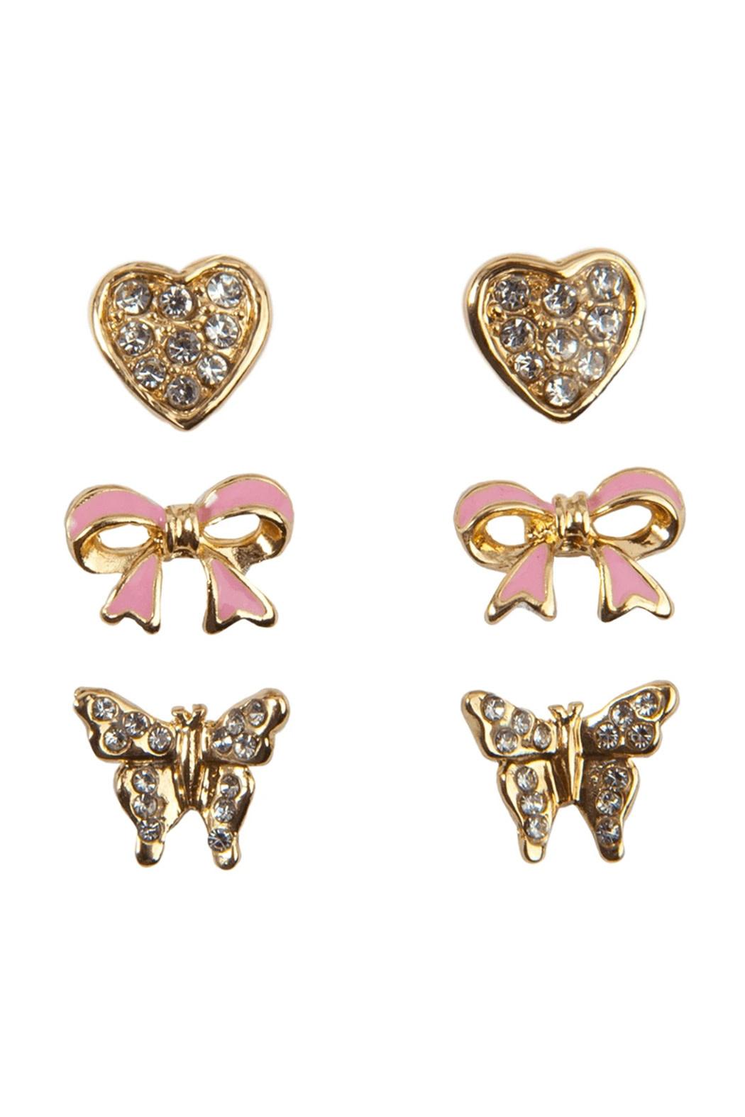 Dazzle Studded Earrings (3pcs)-1
