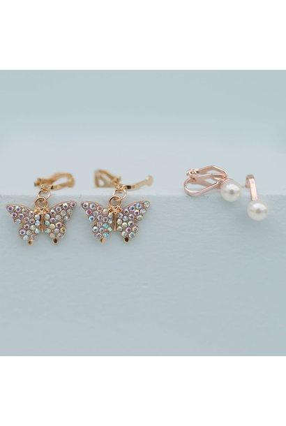Butterfly Clip-on Earrings (2pcs)
