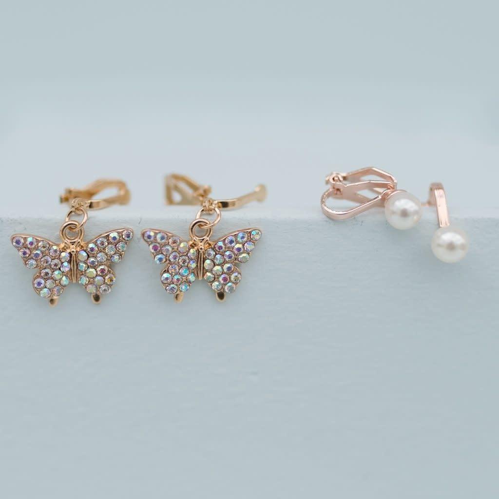 Butterfly Clip-on Earrings (2pcs)-1