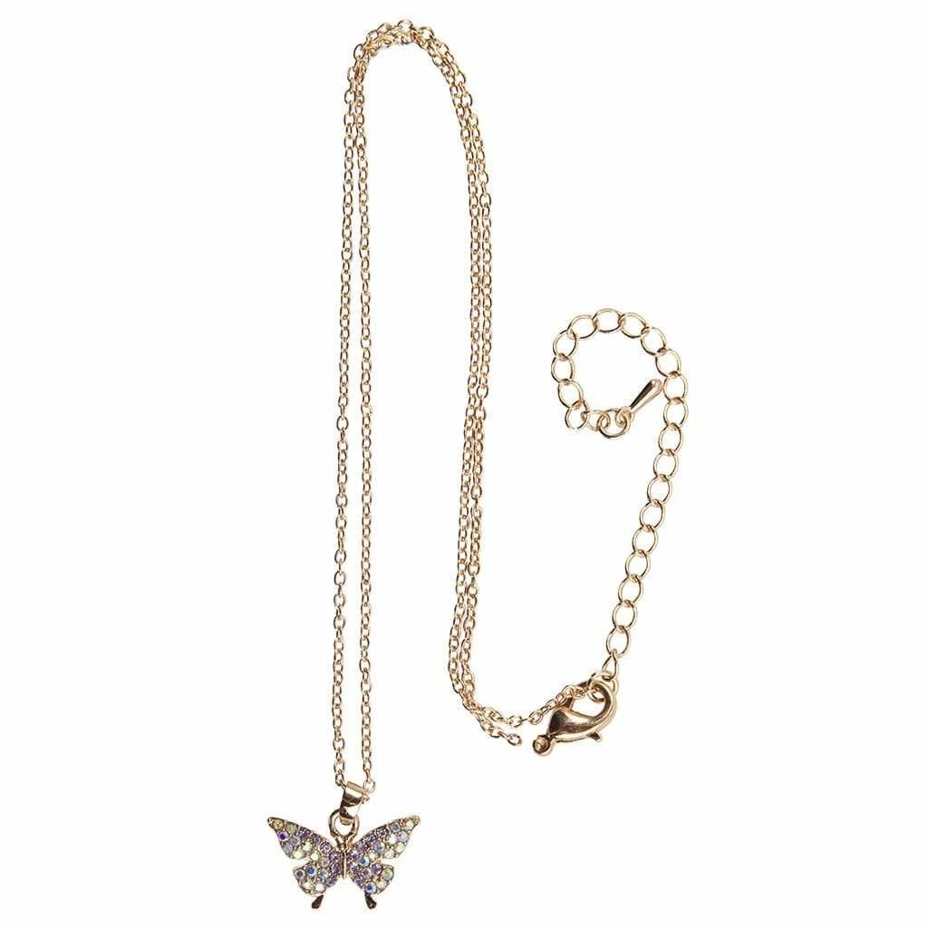 Butterfly Gem Necklace-1