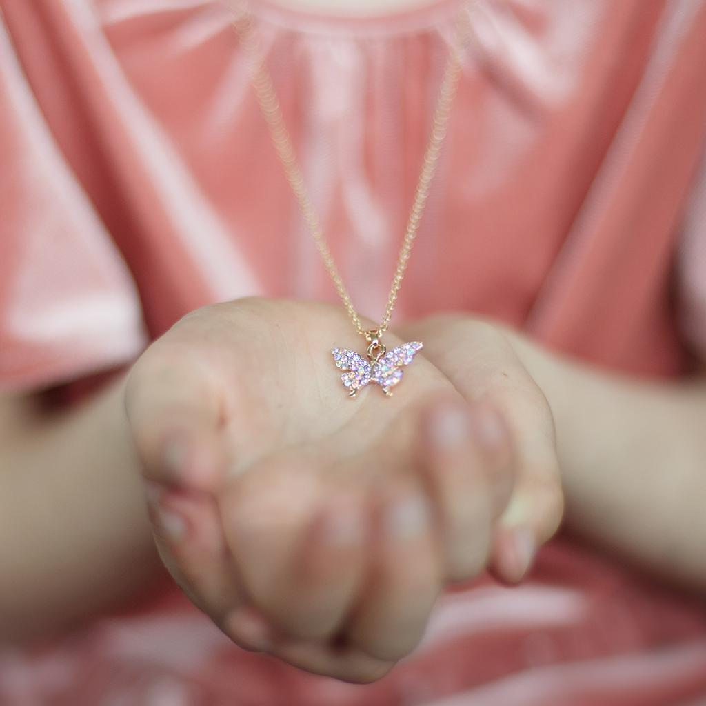 Butterfly Gem Necklace-2