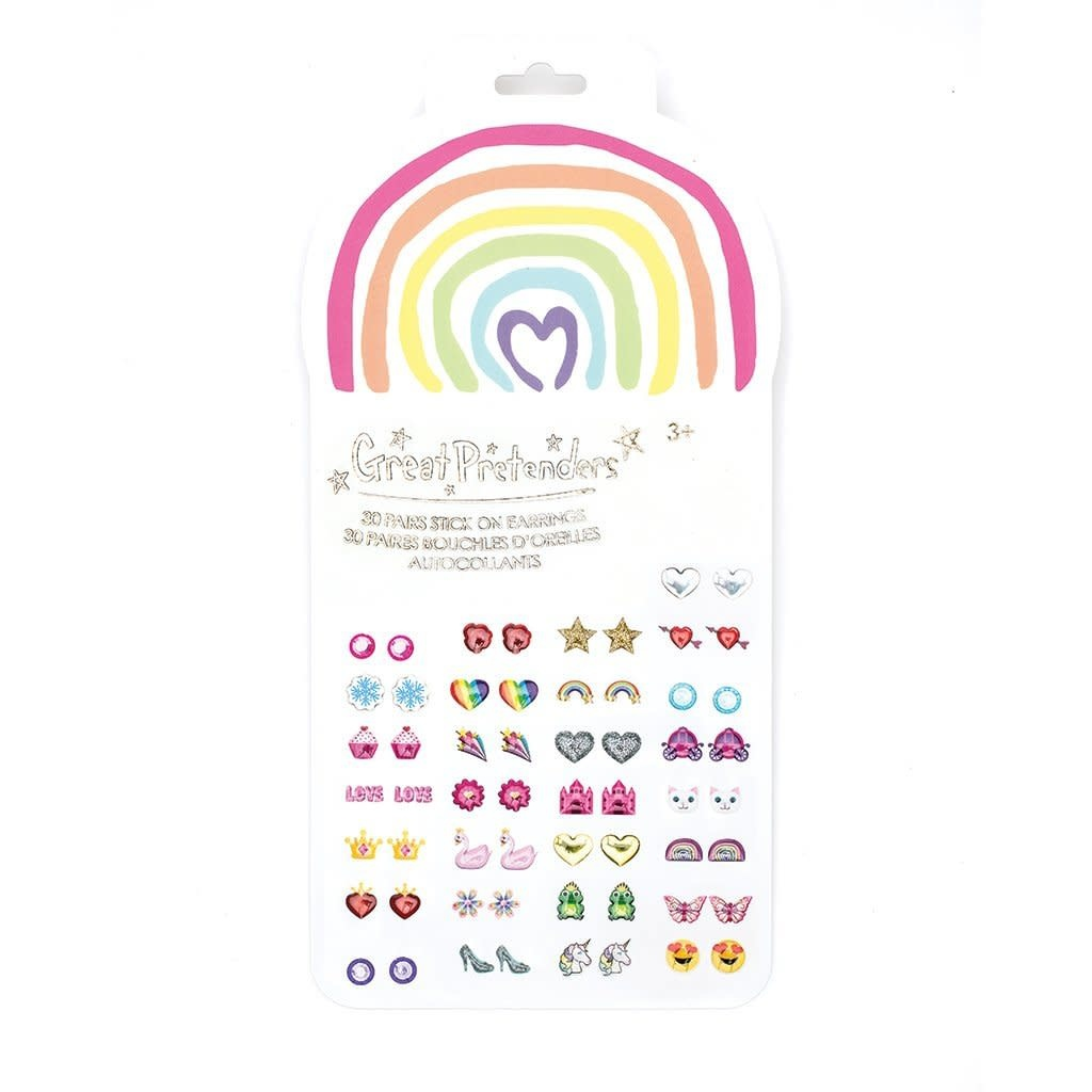 Rainbow Love Sticker Earrings-1
