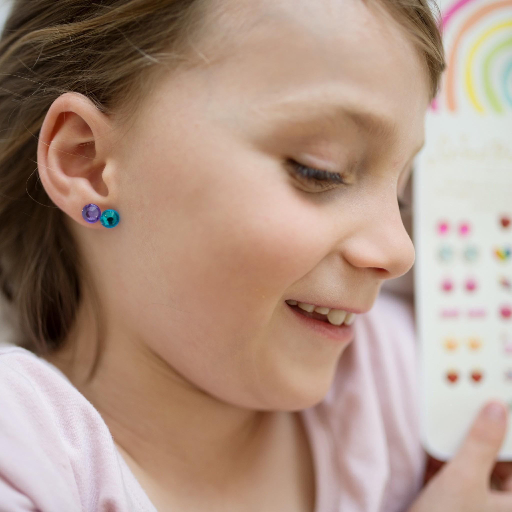 Rainbow Love Sticker Earrings-4