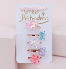 Shimmer Flower Rings (5pcs)-1