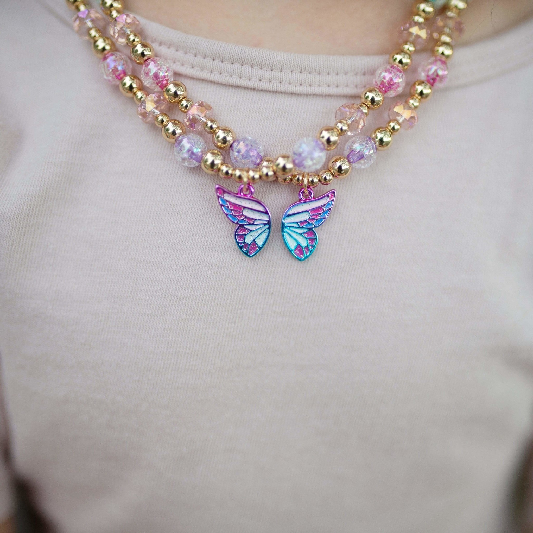 Butterfly Wishes BFF Necklaces (2pcs)-3
