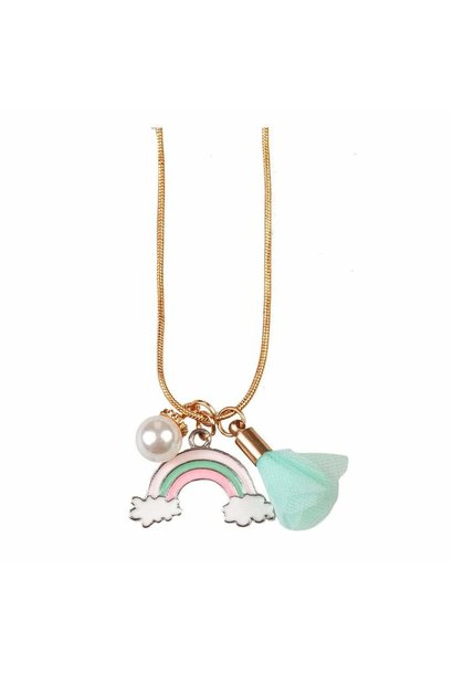 Rainbow Tassel Necklace