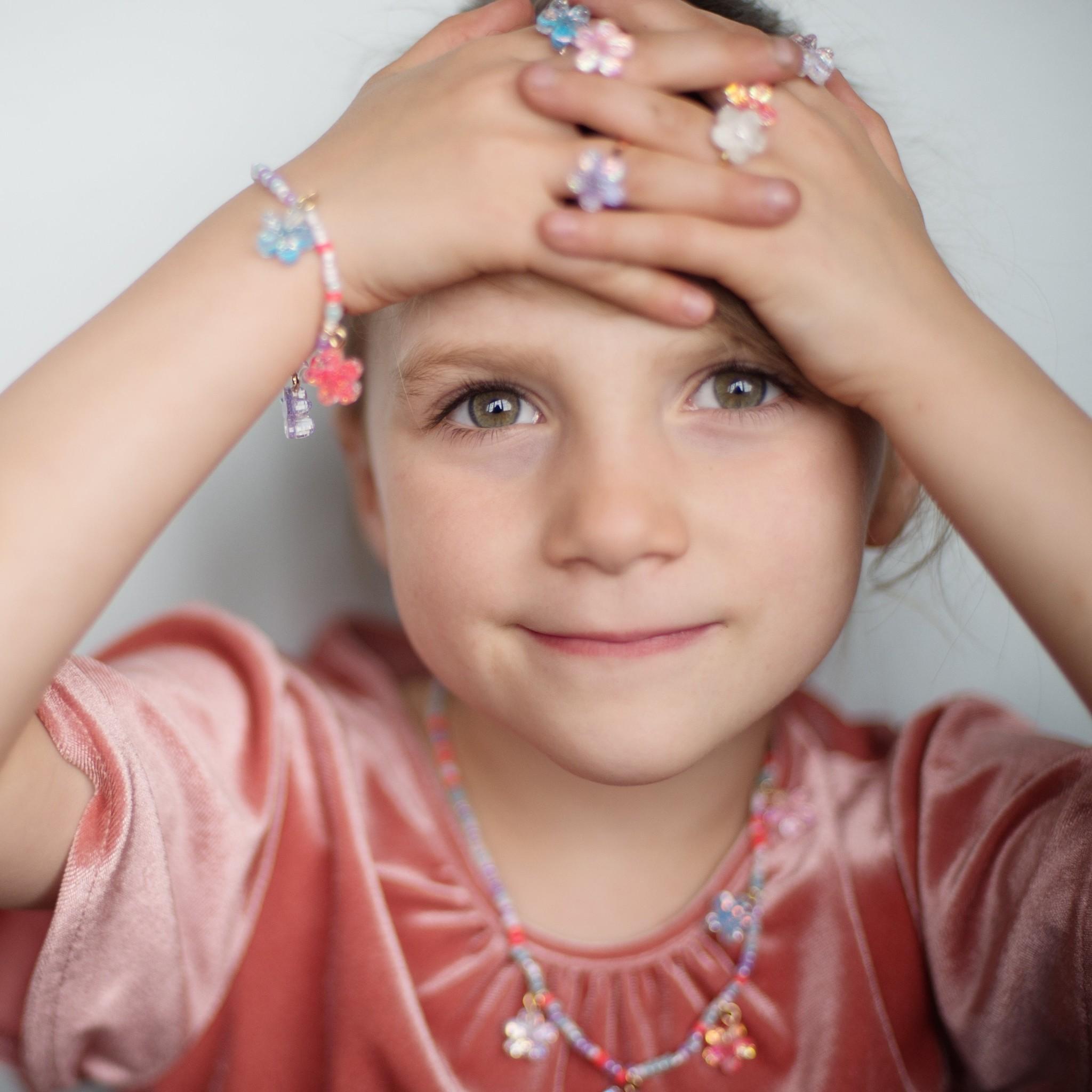 Shimmer Flower Bracelet-3