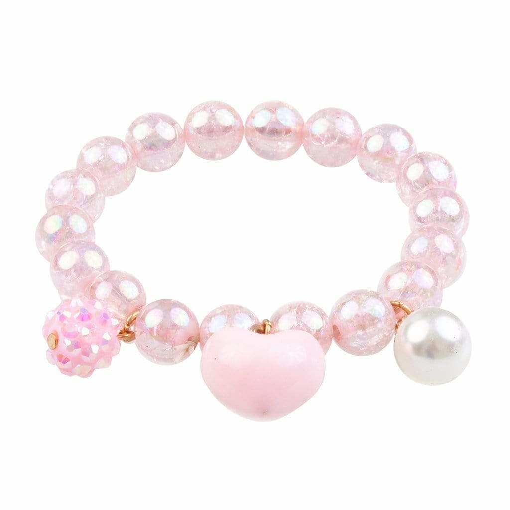 Pink Heart Bobble Bracelet-1