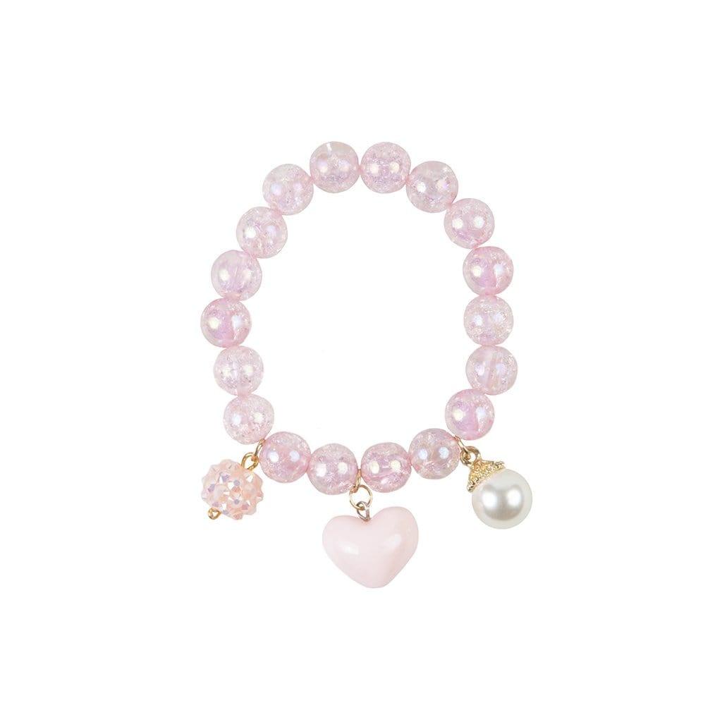 Pink Heart Bobble Bracelet-2