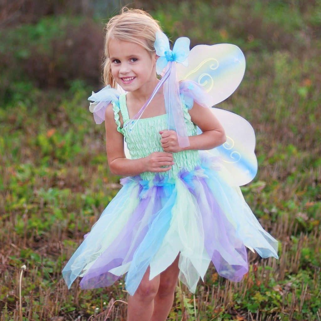 3 piece Butterfly Dress - Green-1
