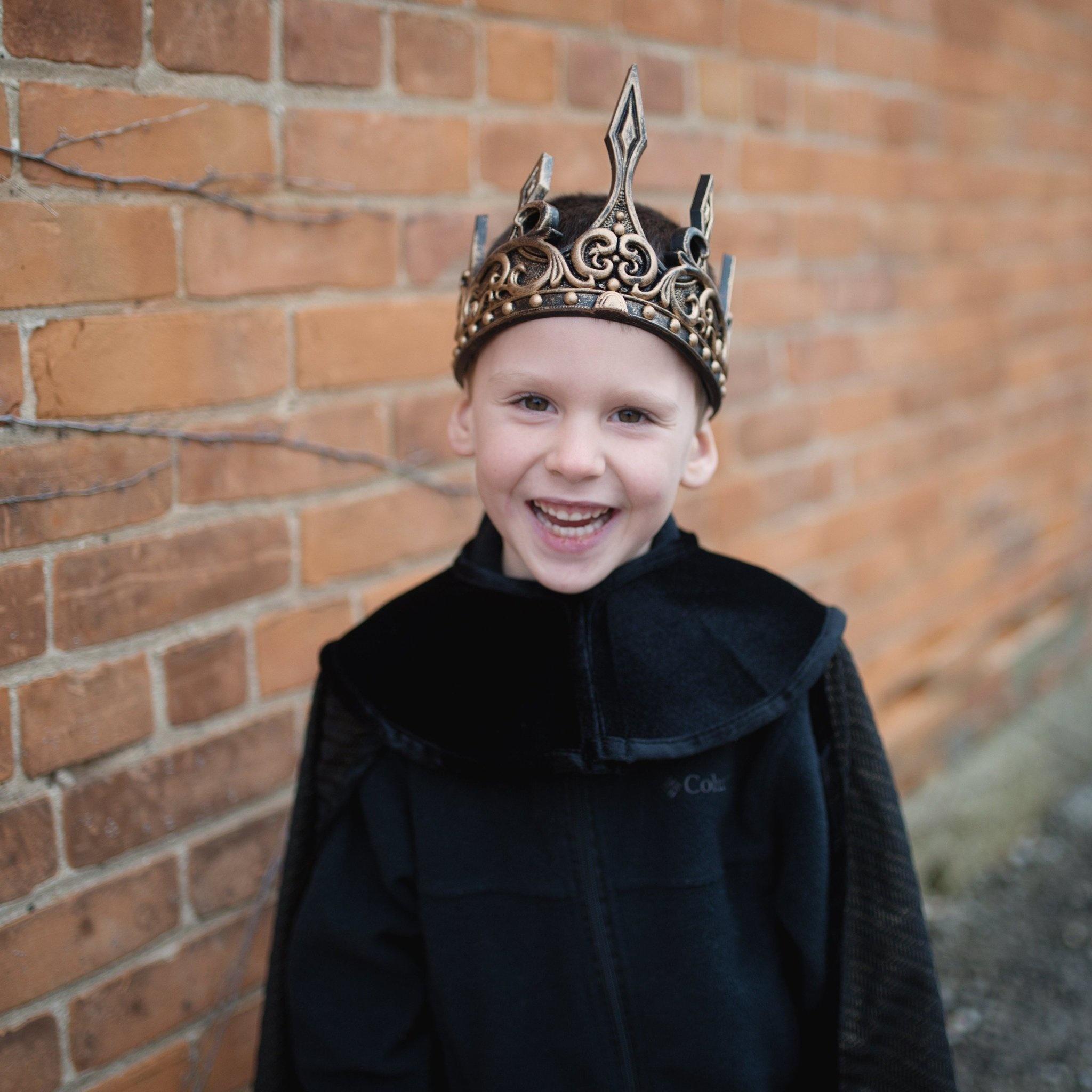 Medieval Crown (Black & Gold)-1