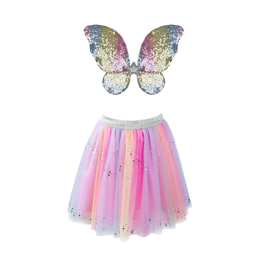 3 pc Rainbow Sequins Skirt-2