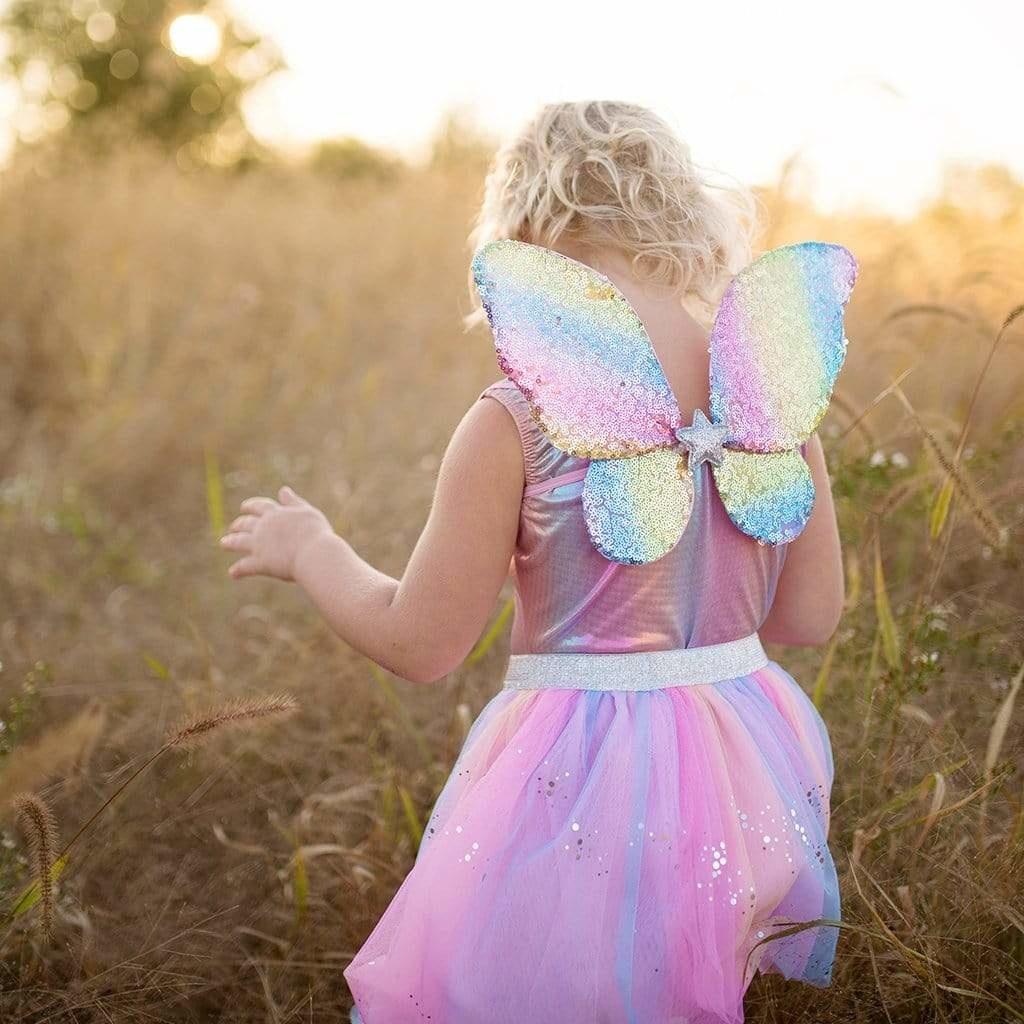 3 pc Rainbow Sequins Skirt-5
