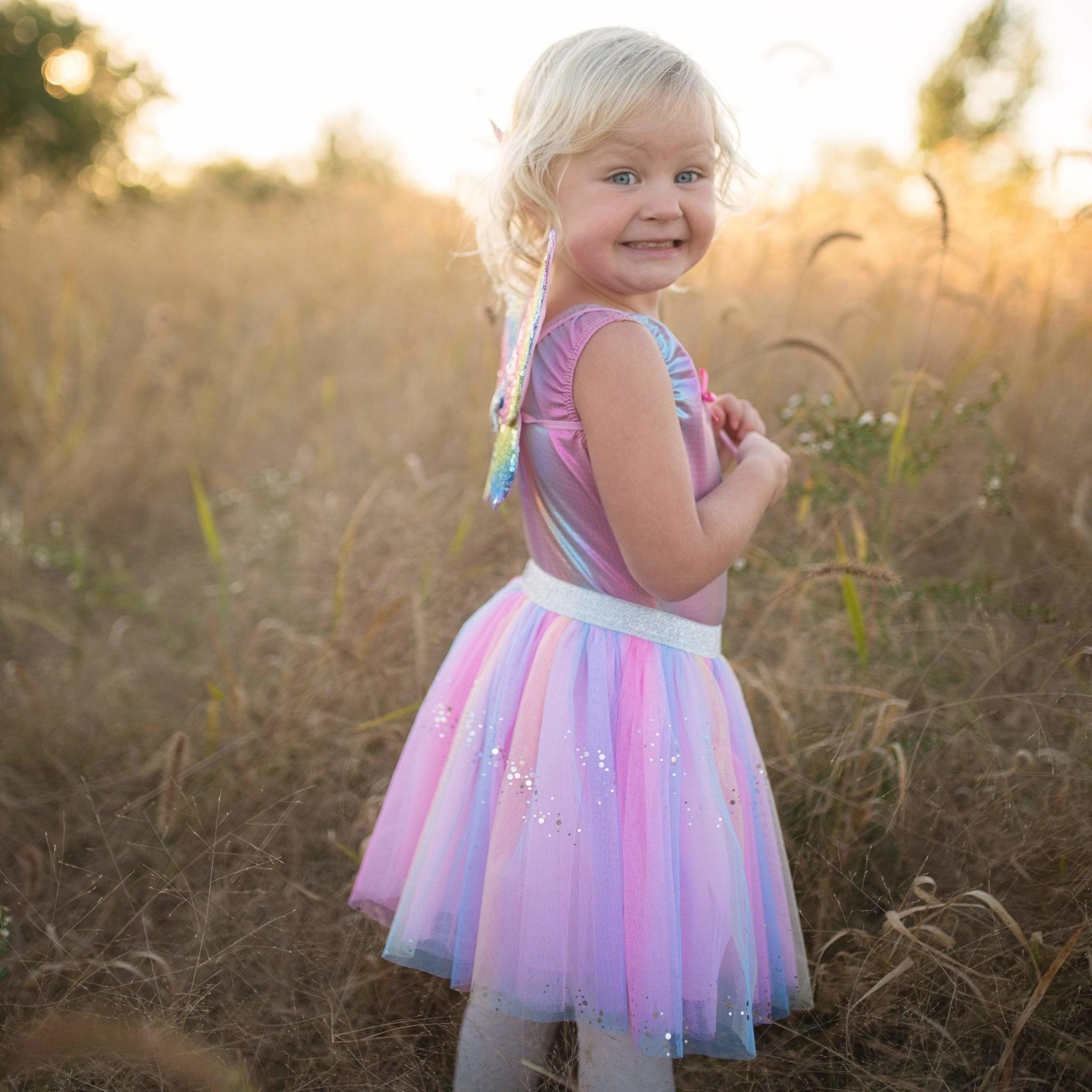 3 pc Rainbow Sequins Skirt-7