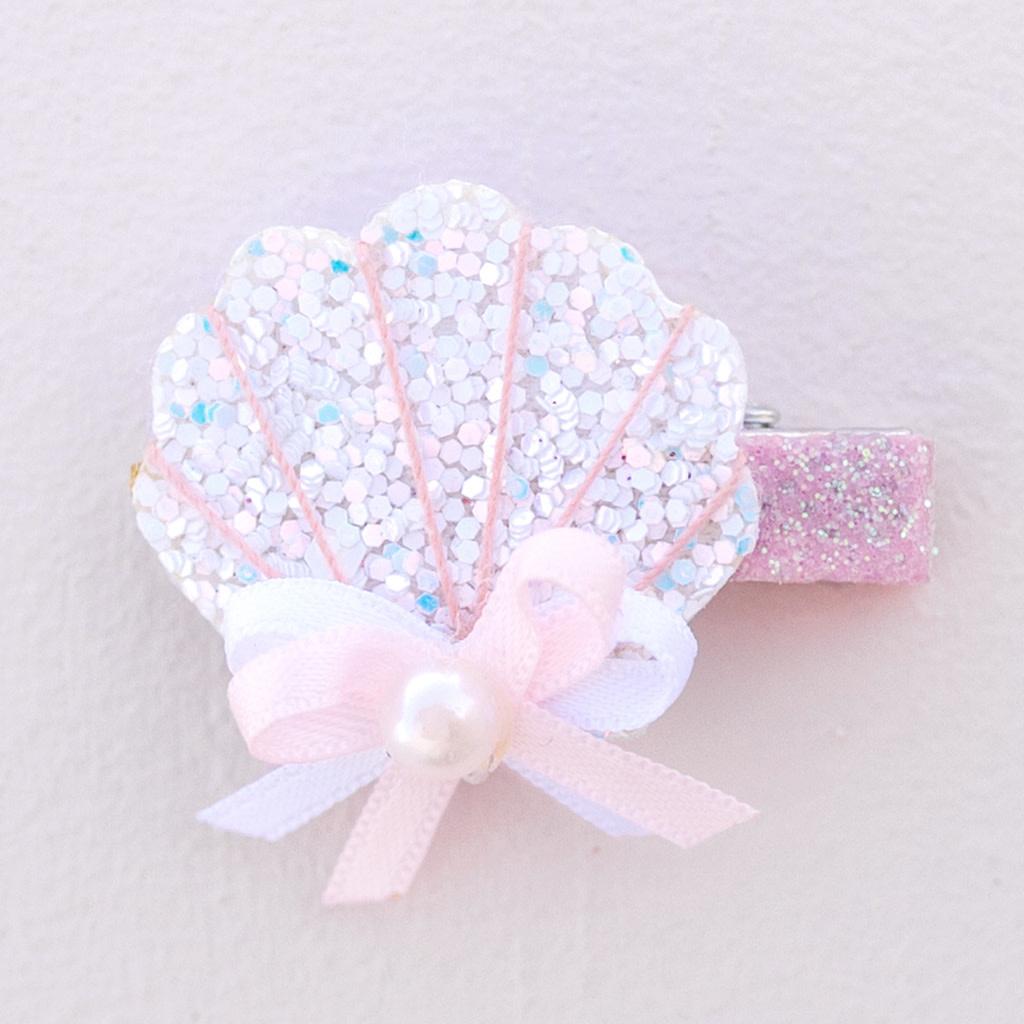 Sparkle Shell Hair Clip-1