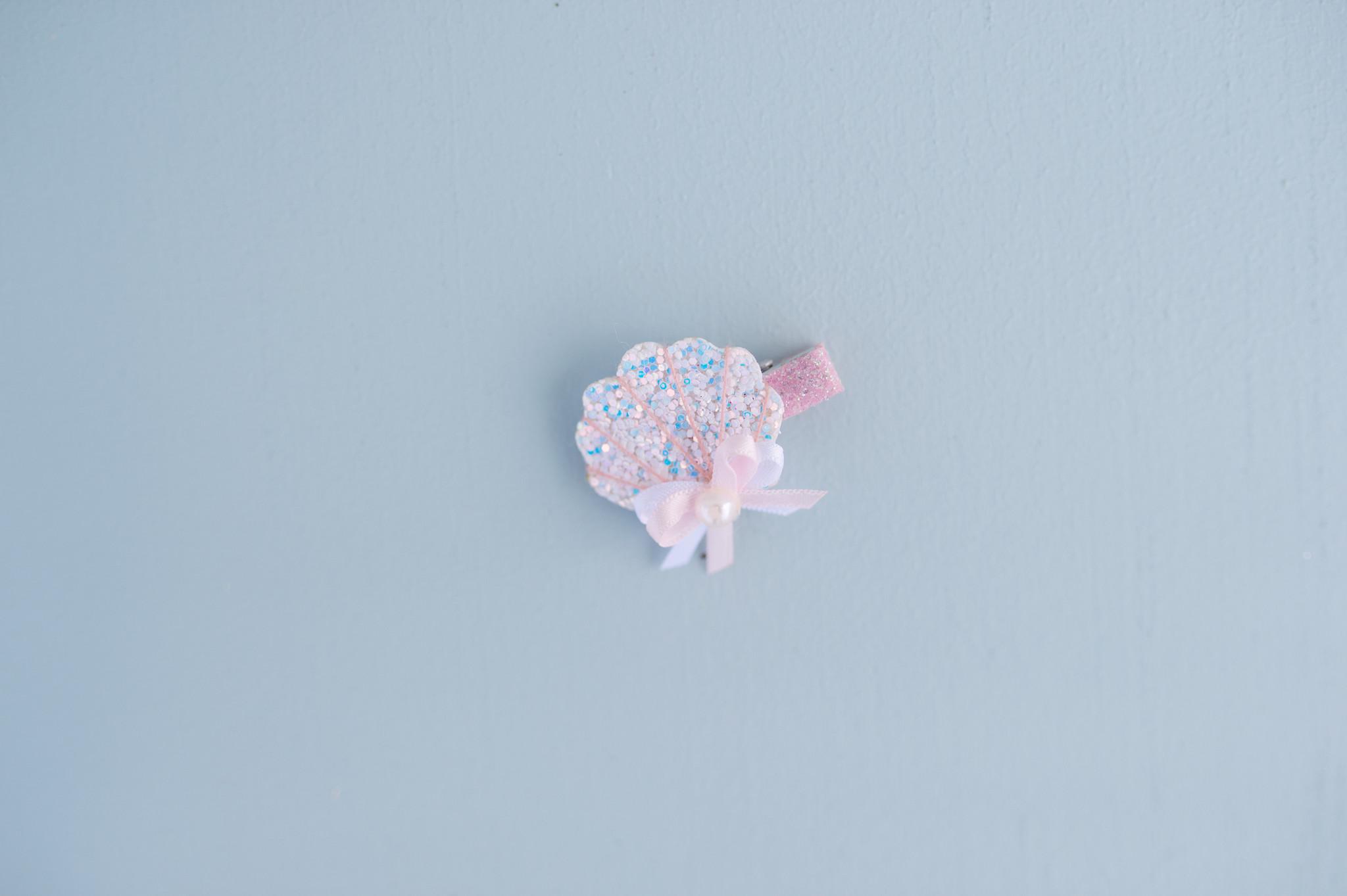 Sparkle Shell Hair Clip-2