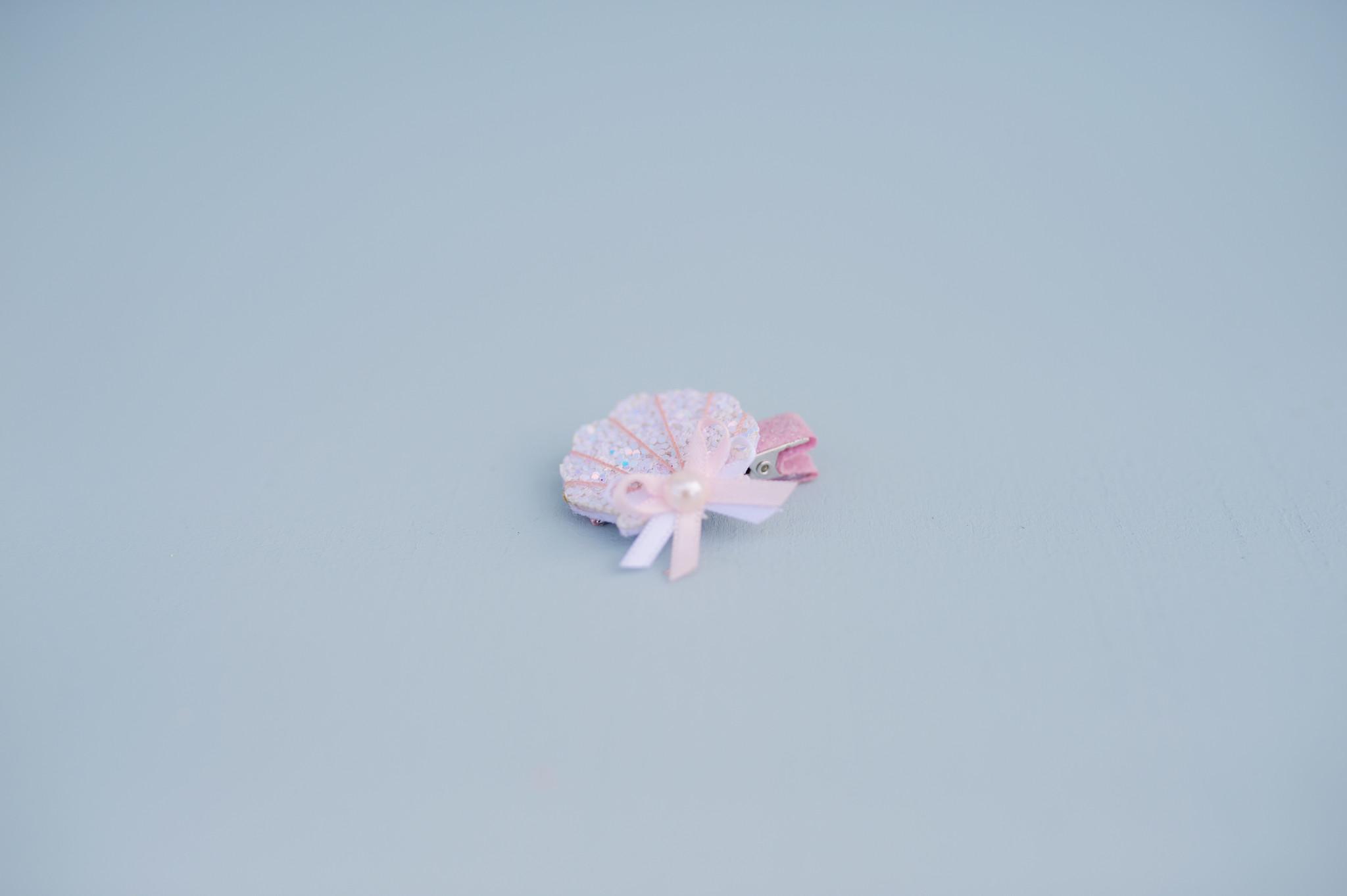 Sparkle Shell Hair Clip-3