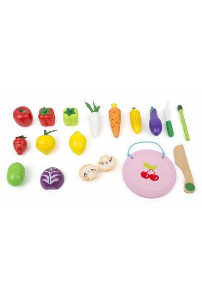 Cuttable Magnetic Fruit & Vegetable Set