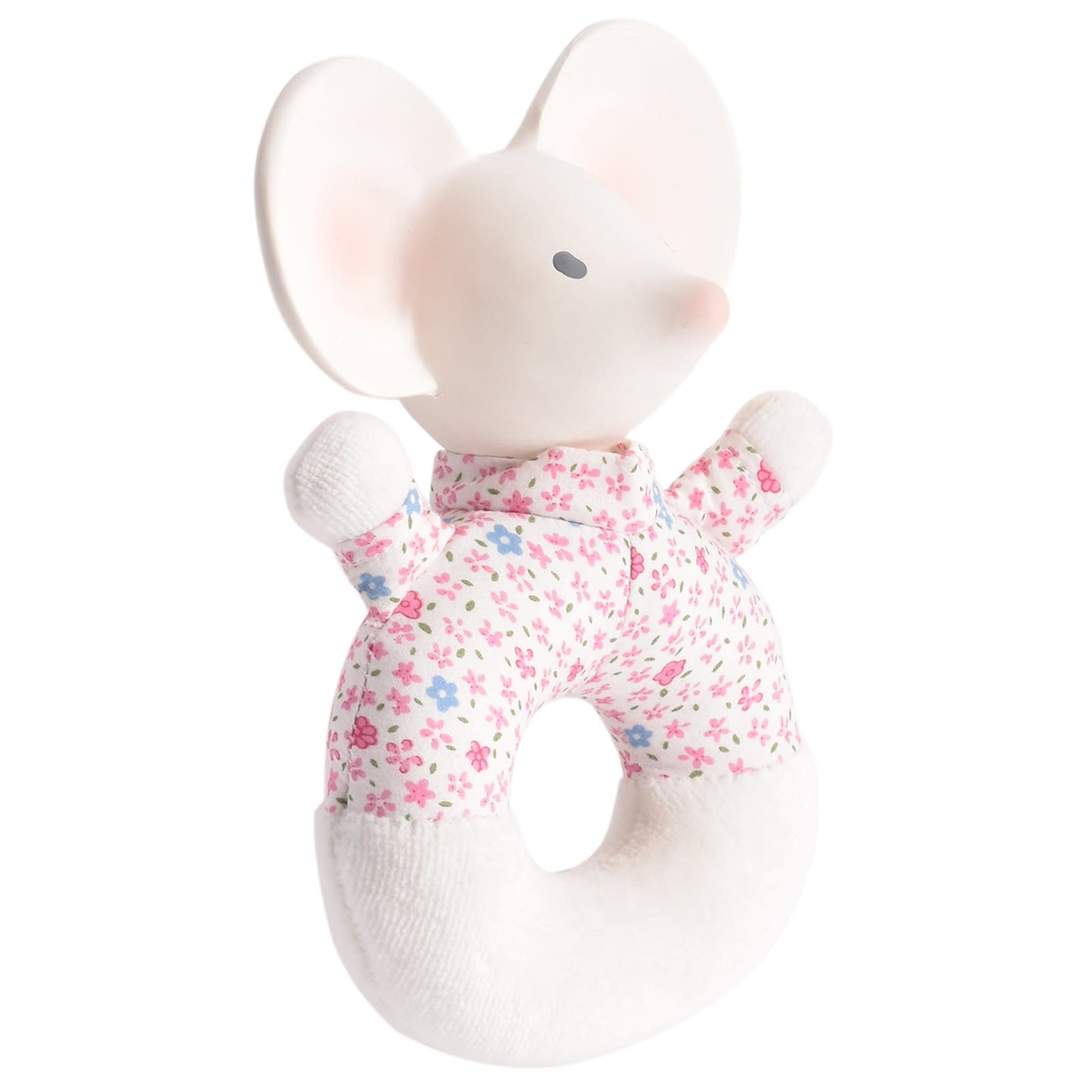 Meiya the Mouse - Soft Rattle with Rubber Head-1