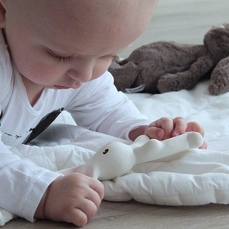 Havah the Bunny - Natural Rubber Teether-2