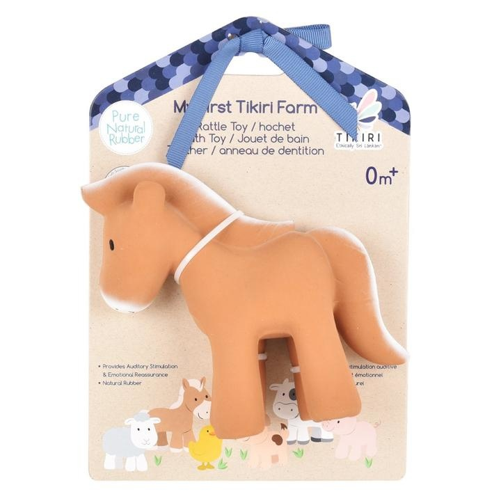 Horse - Organic Natural Rubber Rattle, Teether & Bath Toy-2