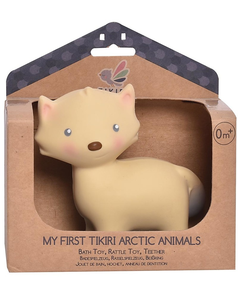 Arctic Fox -Organic Natural Rubber Teether, Baby Rattle & Bath Toy-2