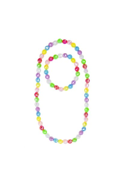 Colour Me Rainbow Necklace/Bracelet Set - Disco Balls