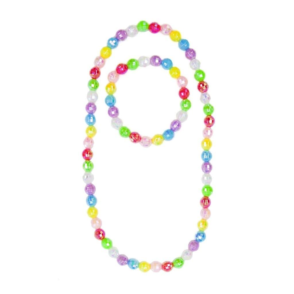 Colour Me Rainbow Necklace/Bracelet Set - Disco Balls-1