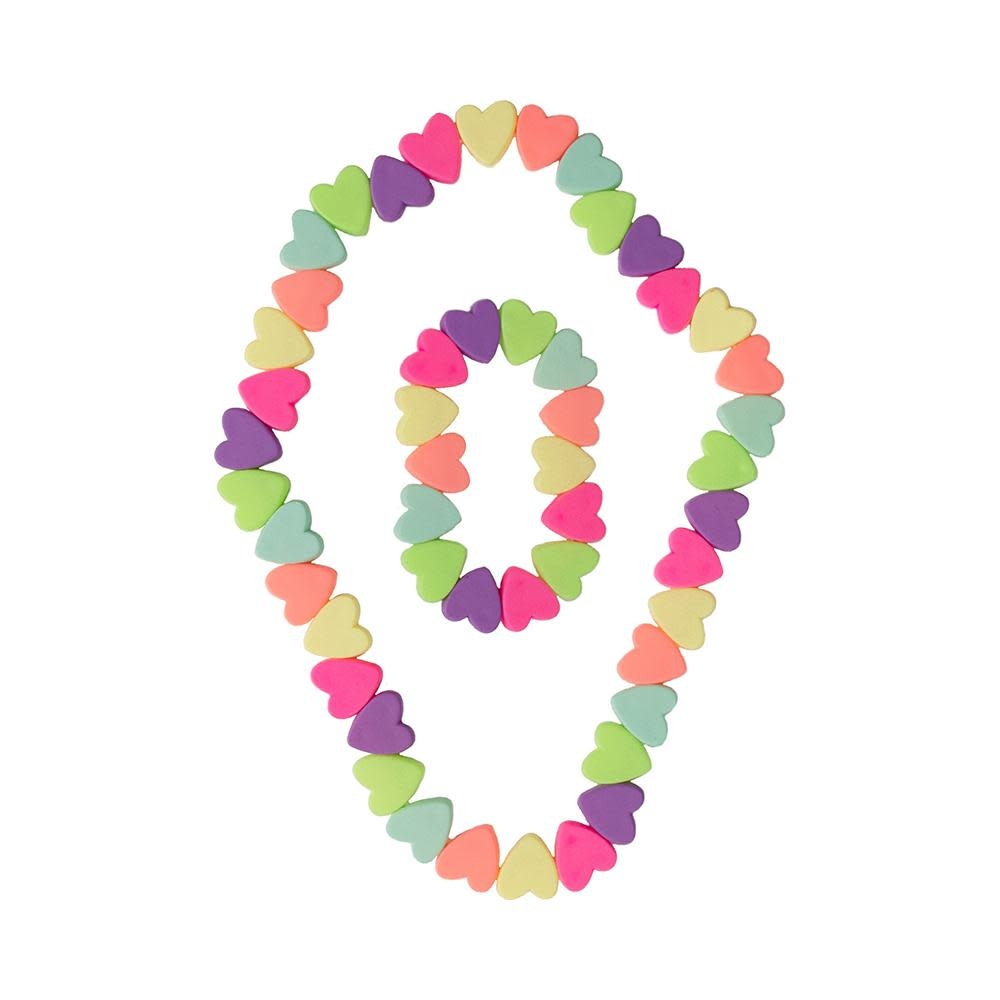 Sweet Tart Heart Necklace/Bracelet Set-1