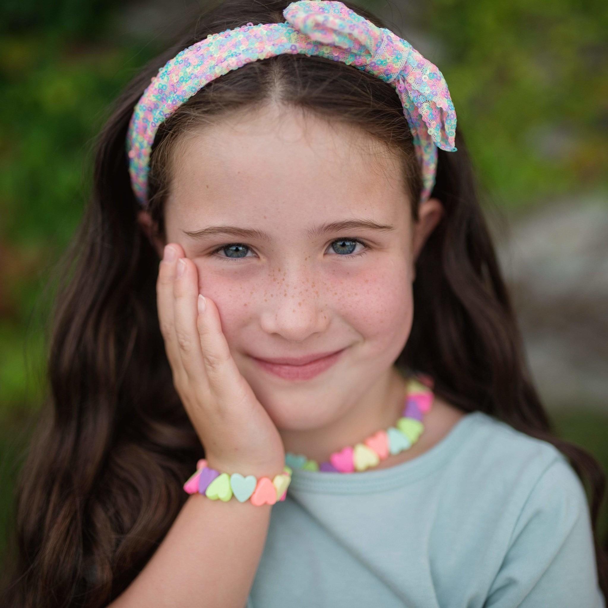 Sweet Tart Heart Necklace/Bracelet Set-2
