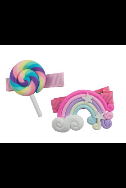 Lollipop Rainbow Hair Clips
