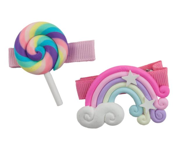 Lollipop Rainbow Hair Clips-1