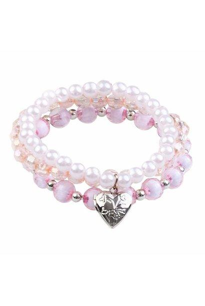 Lovely Locket Bracelet Set