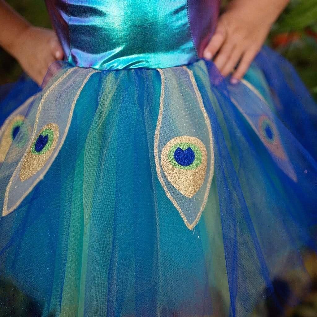 Pretty Peacock Dress and Headband-4