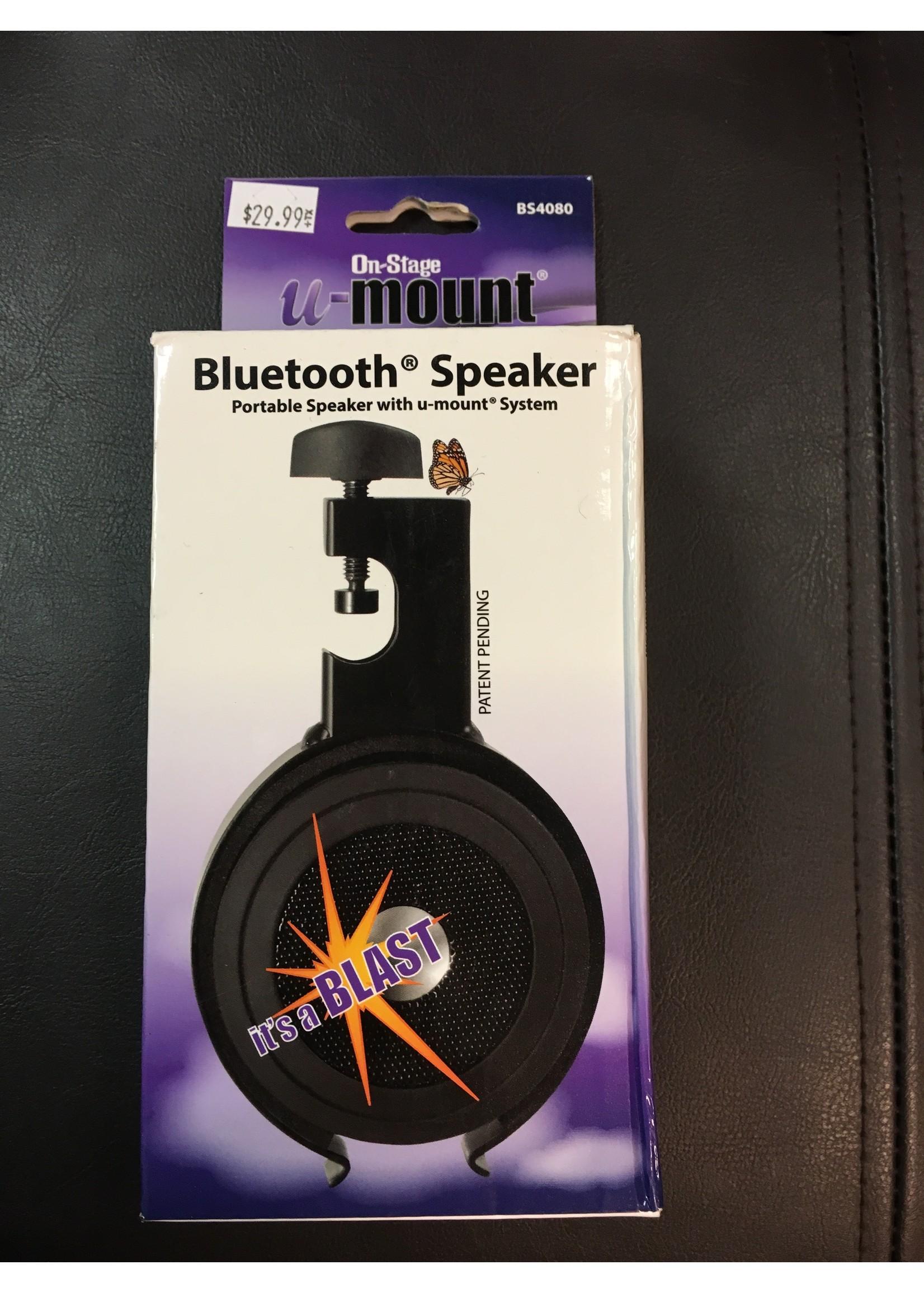 On Stage Mini Bluetooth Speaker With U-Mount Clamp