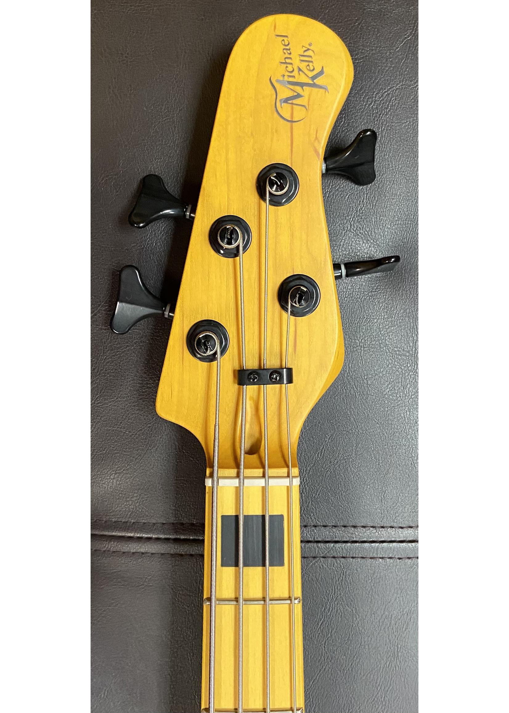 "Michael Kelly Michael Kelly Vintage Element 4 ""Zebra Burst"" Electric Bass"