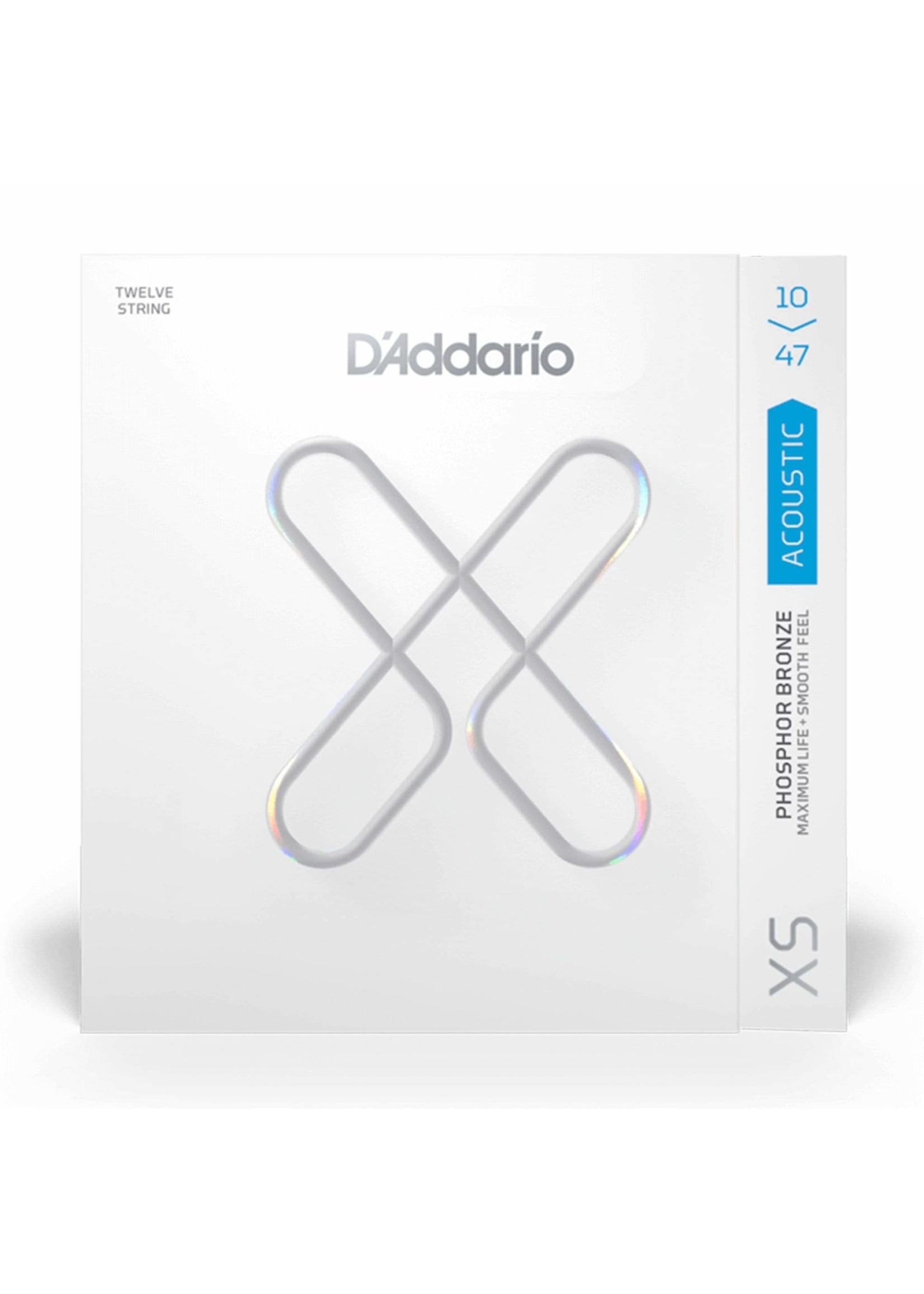 D'ADDARIO D'ADDARIO XS COATED 12 STRING SET 10-47