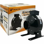"Stealth Ventilation In-line Fan 120V 4"" 189CFM"