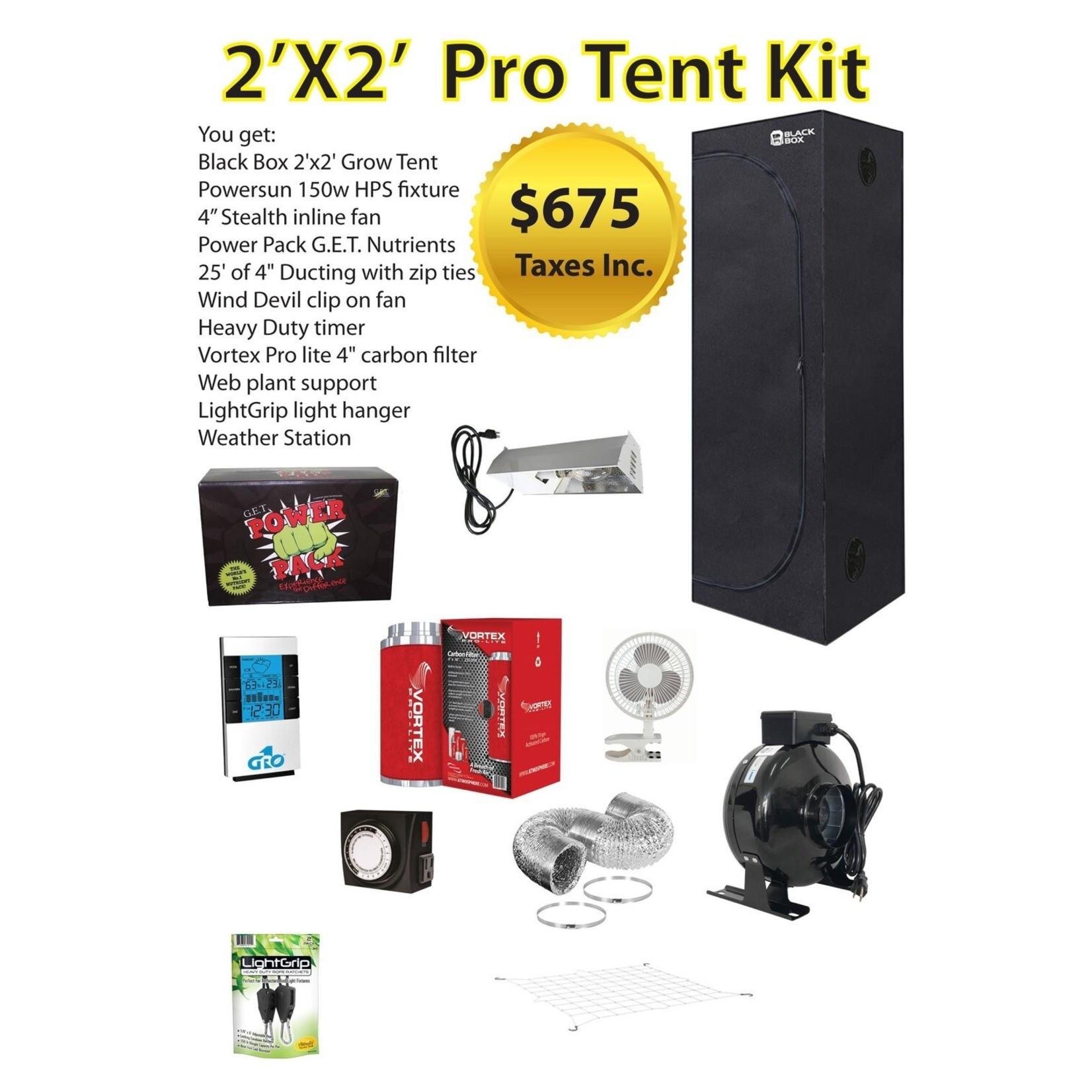 2X2 Pro Tent Kit