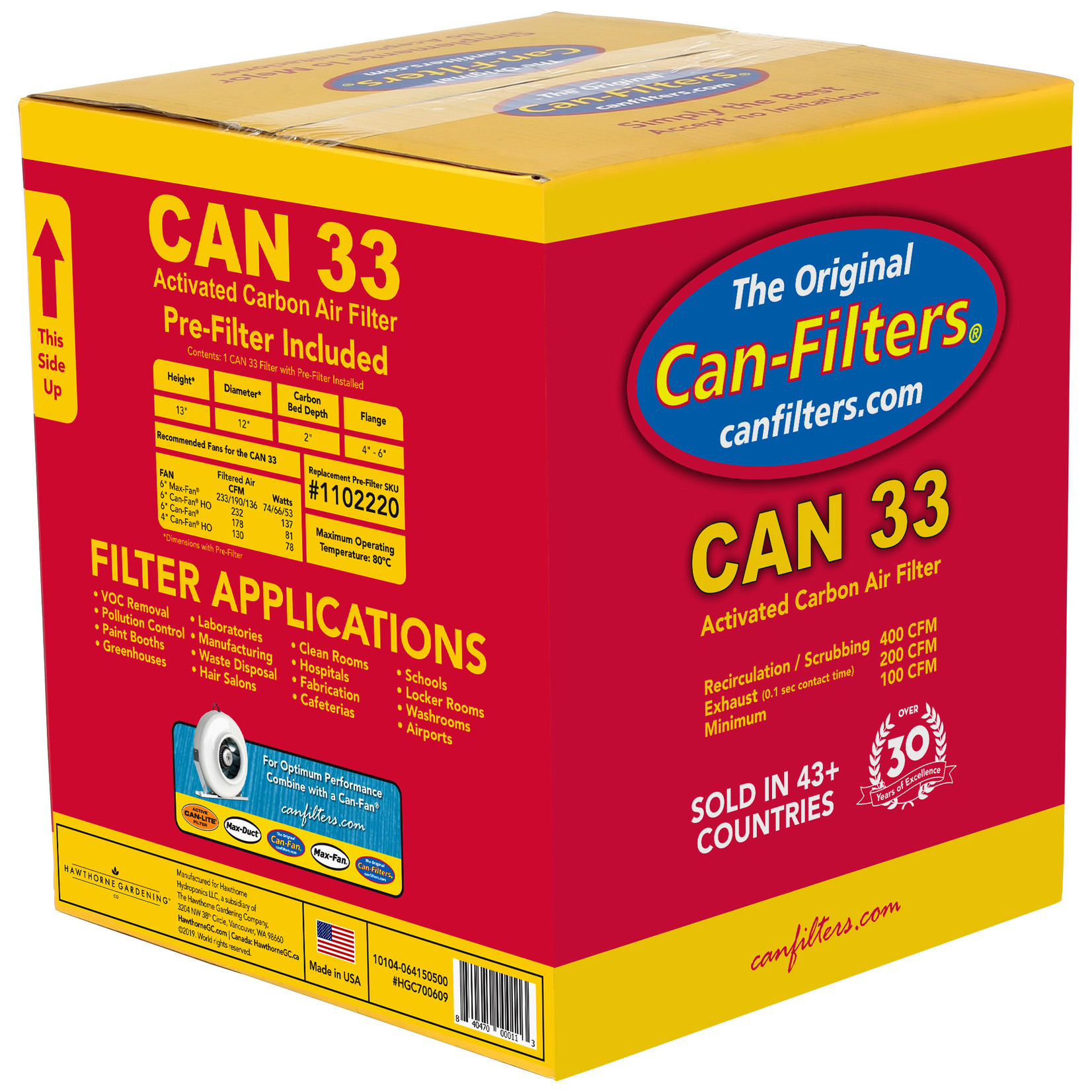 Can Filters CAN-FILTERS ACTIVATED CARBON FILTER