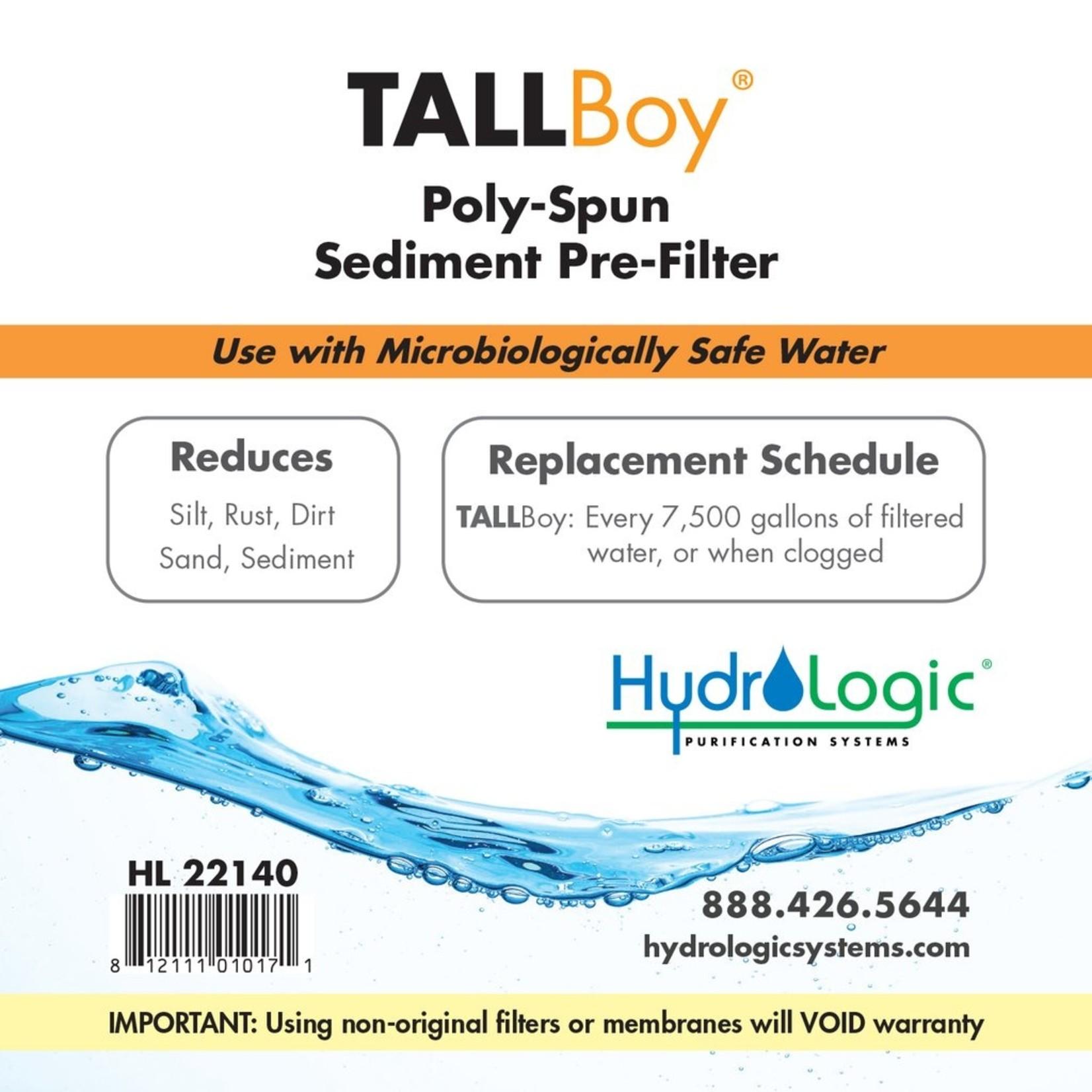Hydrologic HYDROLOGIC TALLBOY SEDIMENT FILTER