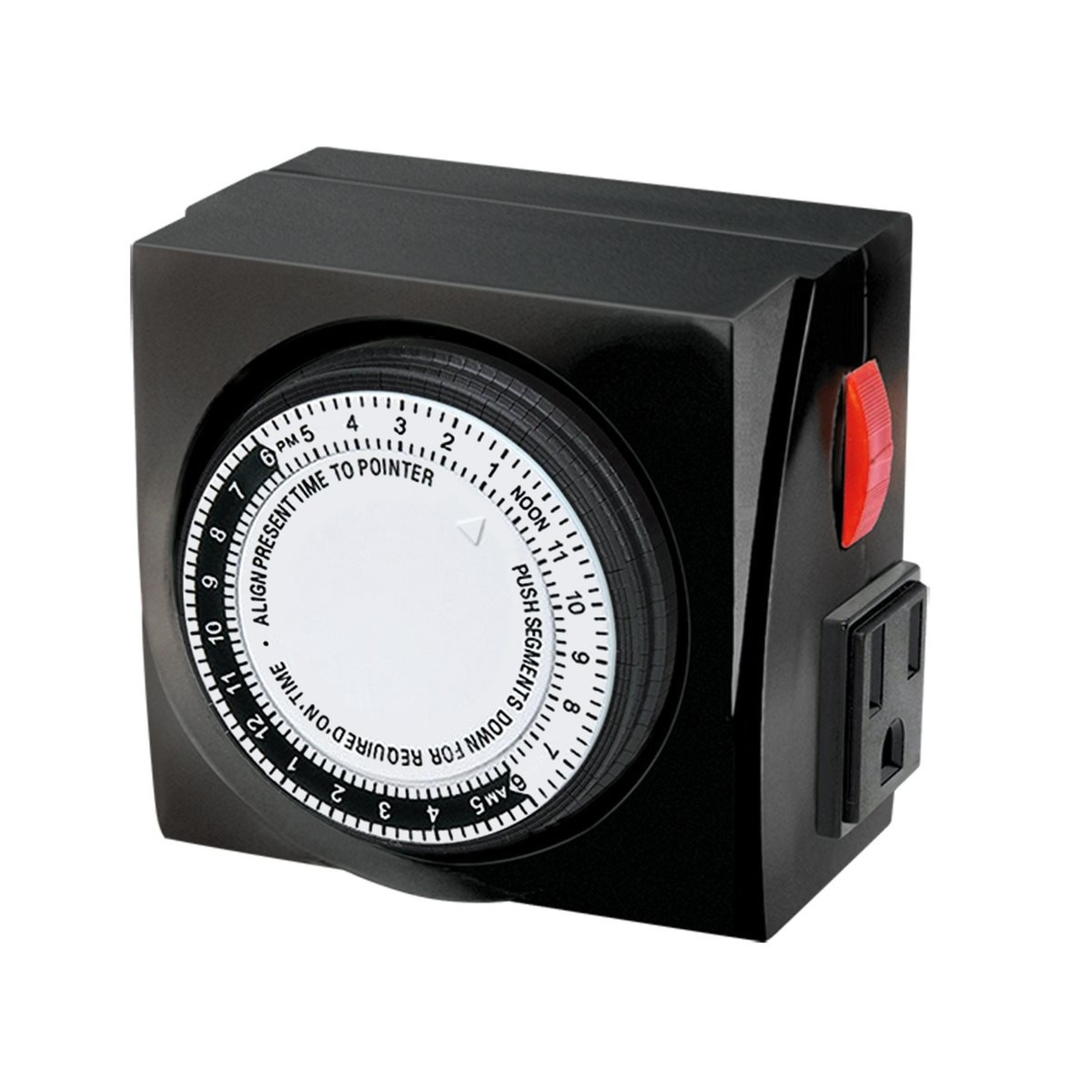 TimeMaster Mechanical Timer 120V 2 Outlets Max 15A