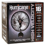 HURRICANE Hurricane Pro High Velocity Oscillating Metal Wall Mount Fan 16 in