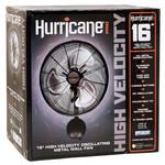 HURRICANE Hurricane Pro High Velocity Oscillating Metal Wall Mount Fan 16 in