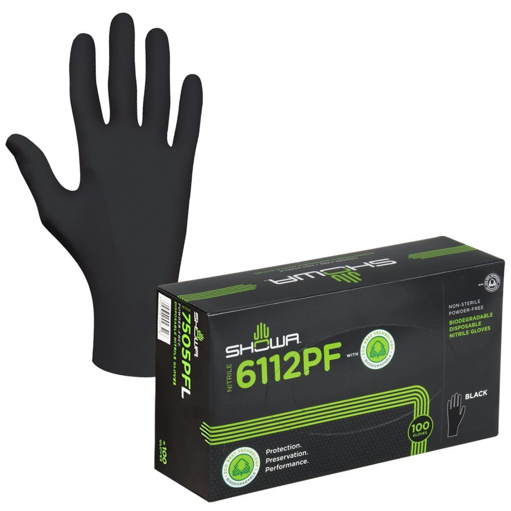 Showa Biodegradable Glove Large (100 / Bx)