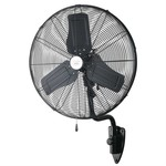 """Canarm Commercial 24"""" Oscillating Wall Mounted Black"""